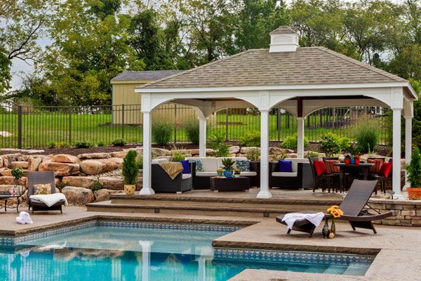 Backyard Pavilion Ideas shop this look Find This Pin And More On Outside Ideas Traditional Vinyl Patio Pavilions