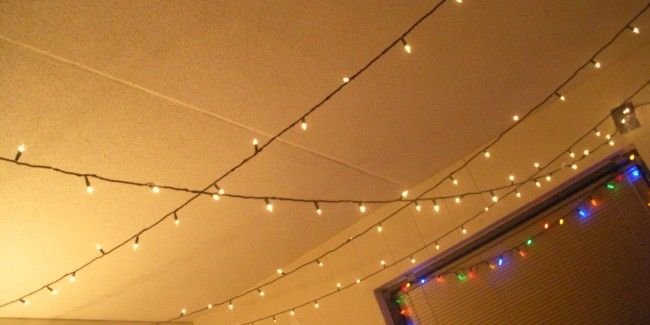 Do it Yourself Hanging christmas lights