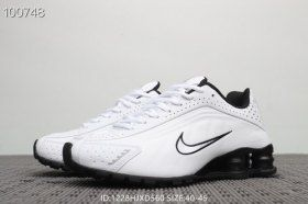 3221b2afdf Nike Shox R4 White Black Men's Trainers Running Shoes NIKE014008 in ...