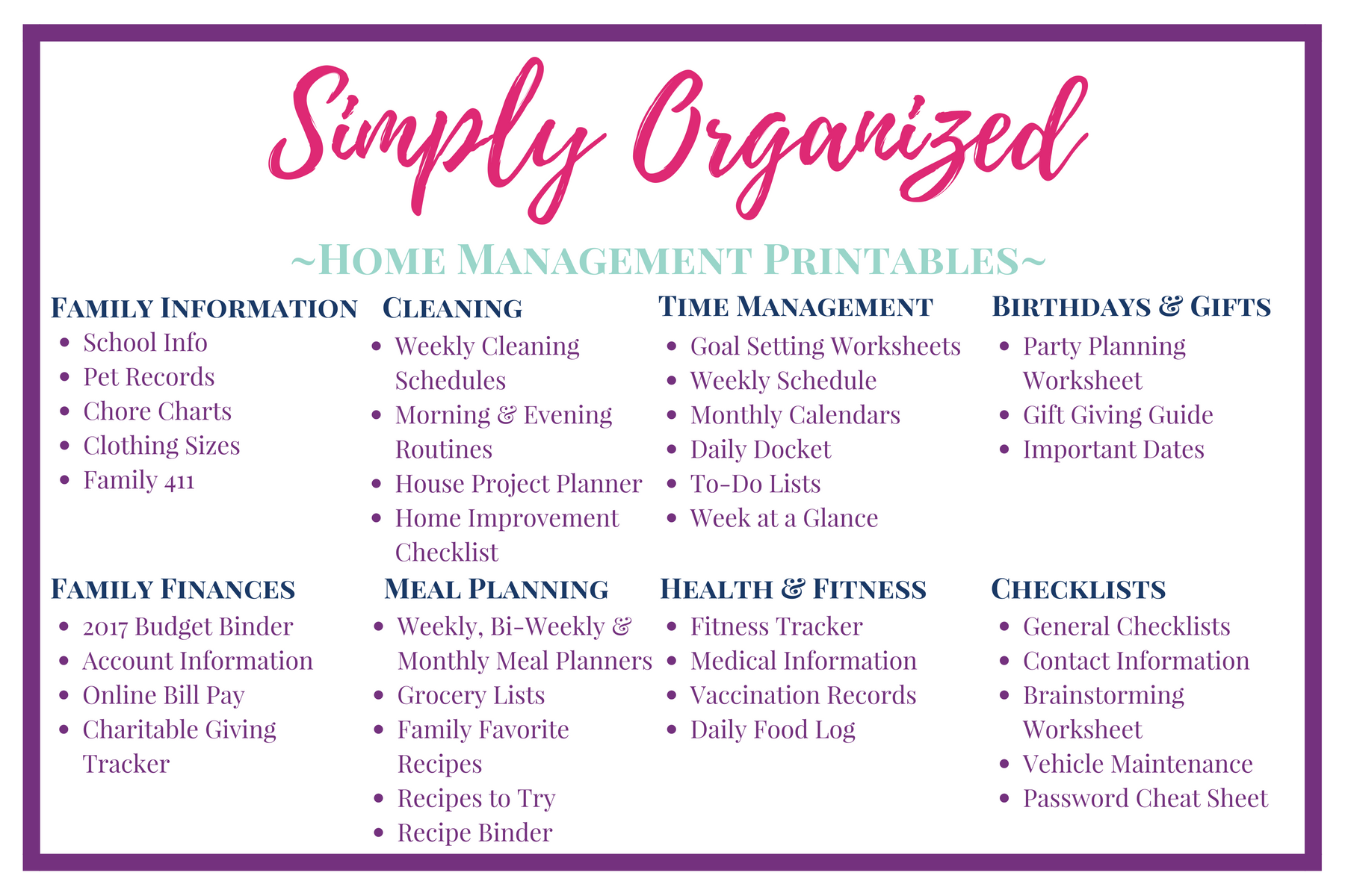 A Home Management System For The Overwhelmed Mom