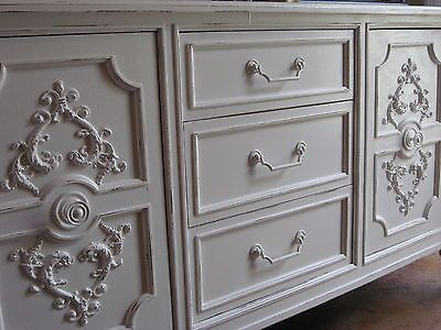 Shabby-Chic Large Acanthus Leaf Medallion Furniture Applique Architectural NEW
