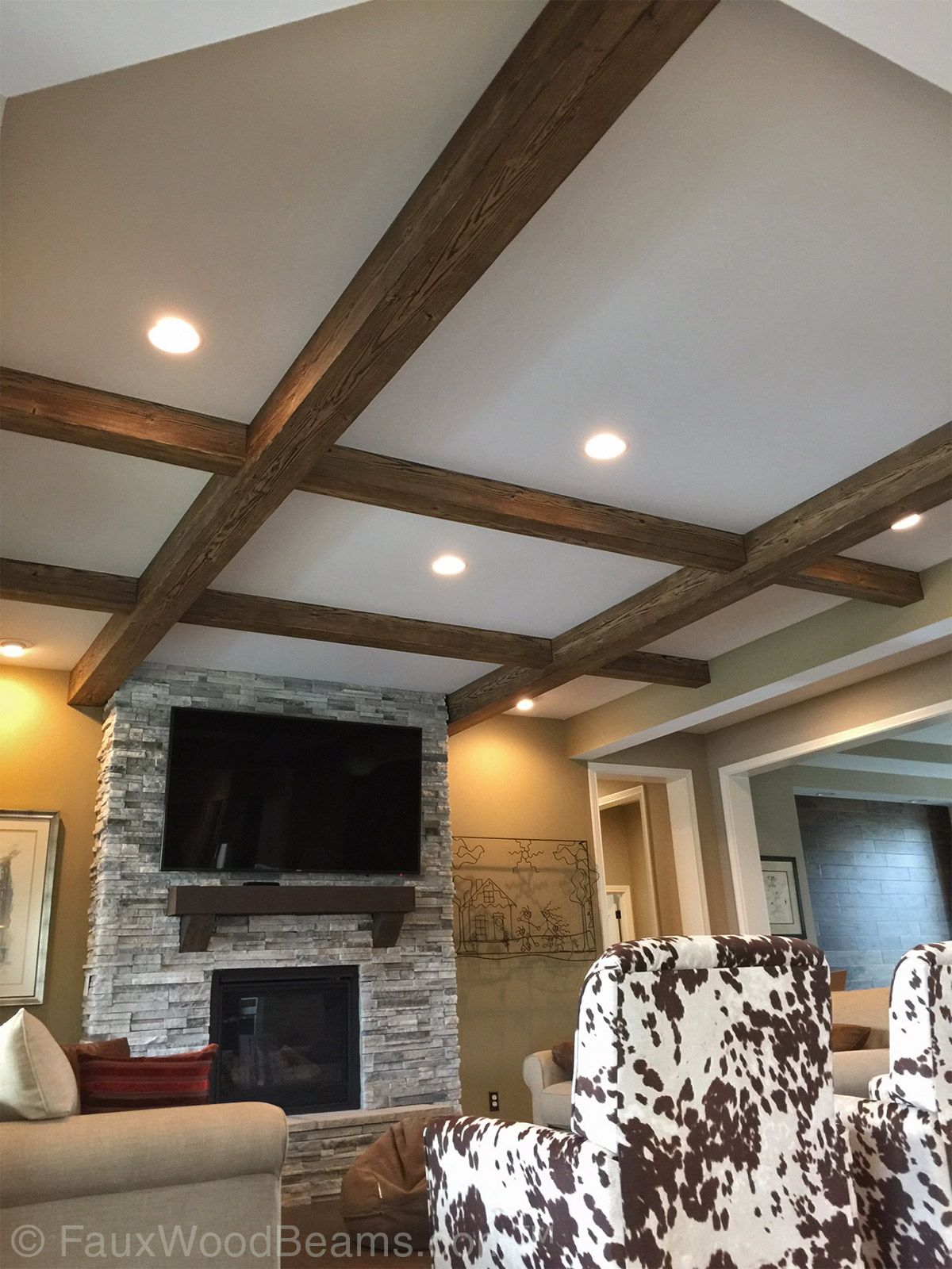 Faux Coffered Ceiling Pictures Beautiful Ideas For Flat Ceil