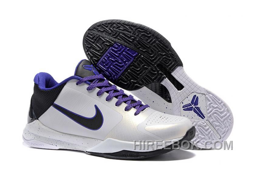reputable site 0b6cd 410dd Nike Zoom Kobe 5 White Black Purple Online, Price   99.00 - Reebok Shoes,Reebok  Classic,Reebok Mens Shoes