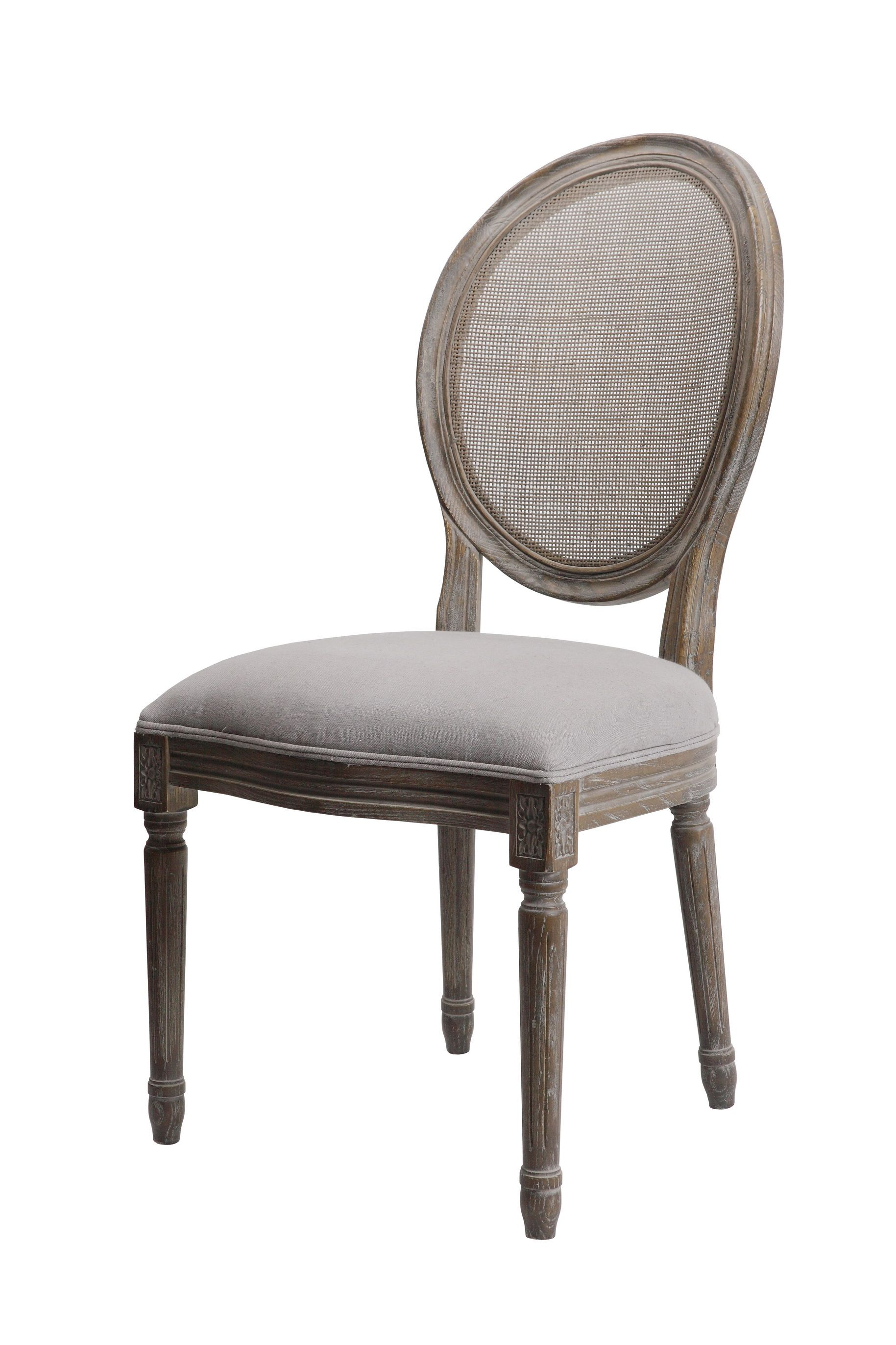 Round Maxwell chair in Dyed Grey linen by Forty West designs