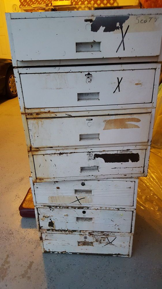 Repurposed Heavy Metal Drawers You won't believe what these look like now!