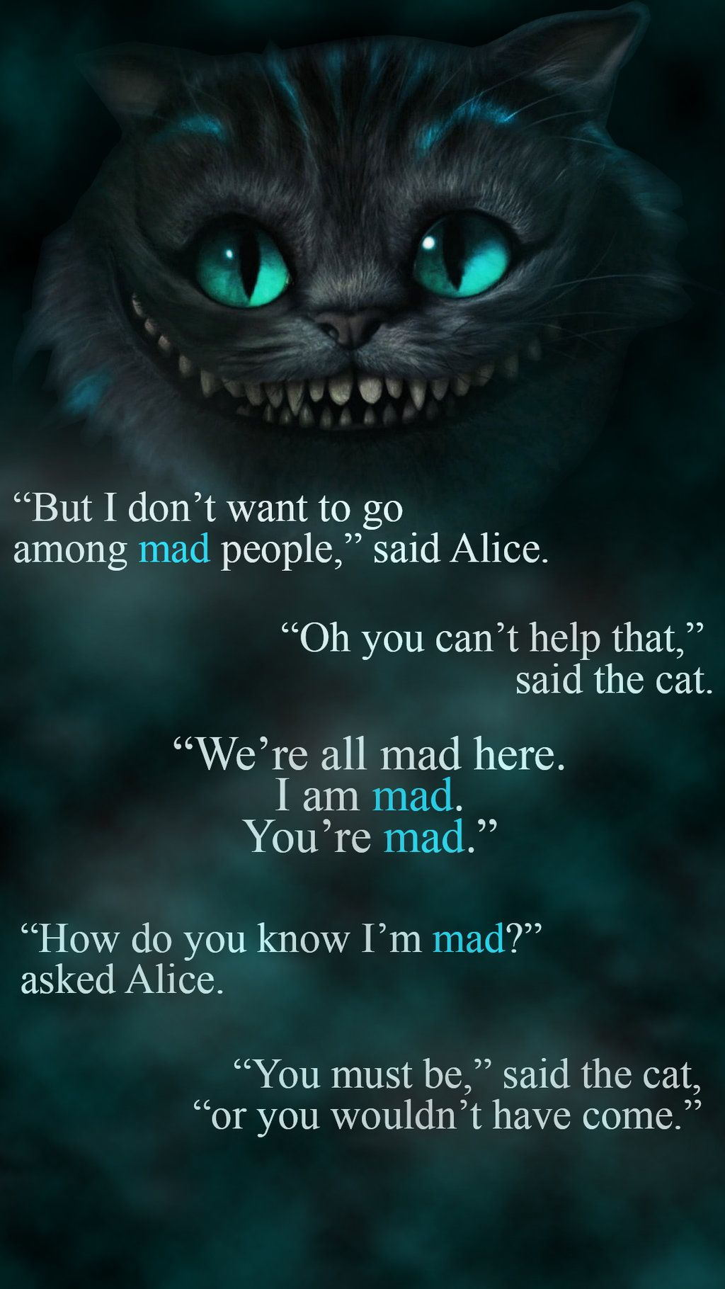 Image Result For Cheshire Cat Quotes Alice And Wonderland Quotes Cheshire Cat Quotes Alice In Wonderland