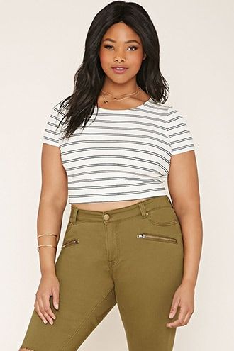 0a08a13f Plus Size Striped Crop Top | Be Bold, Be You | Crop tops, Striped ...