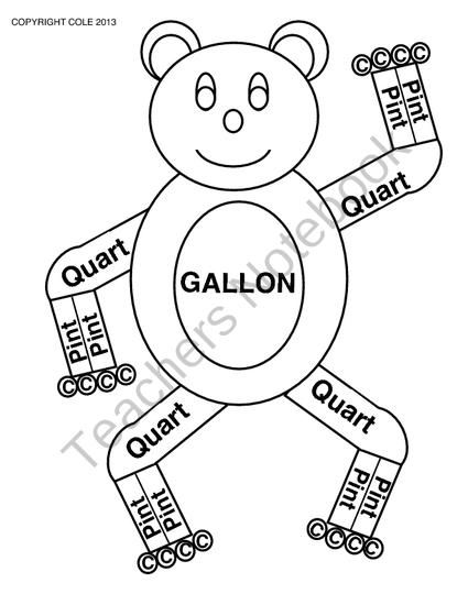 Gallon Bear from Coles Hot Spot for Great Activities on