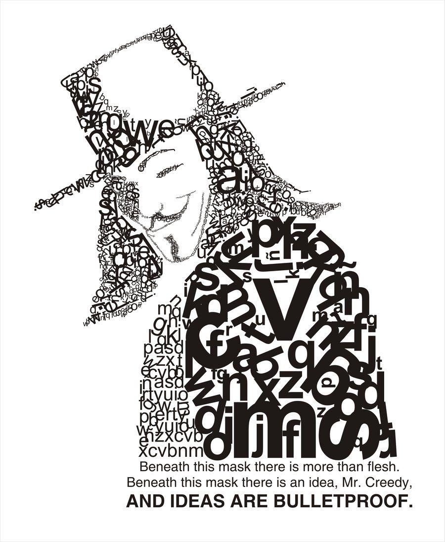 word art: V for vendetta. Awesome.   My shiii   Pinterest ...