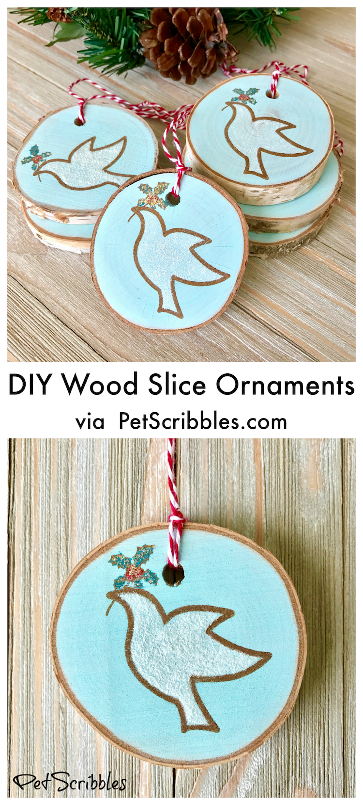 Diy Wood Slice Ornaments For Christmas Diy Christmas Ornaments Diy Christmas Tree Ornaments Diy Christmas Gifts