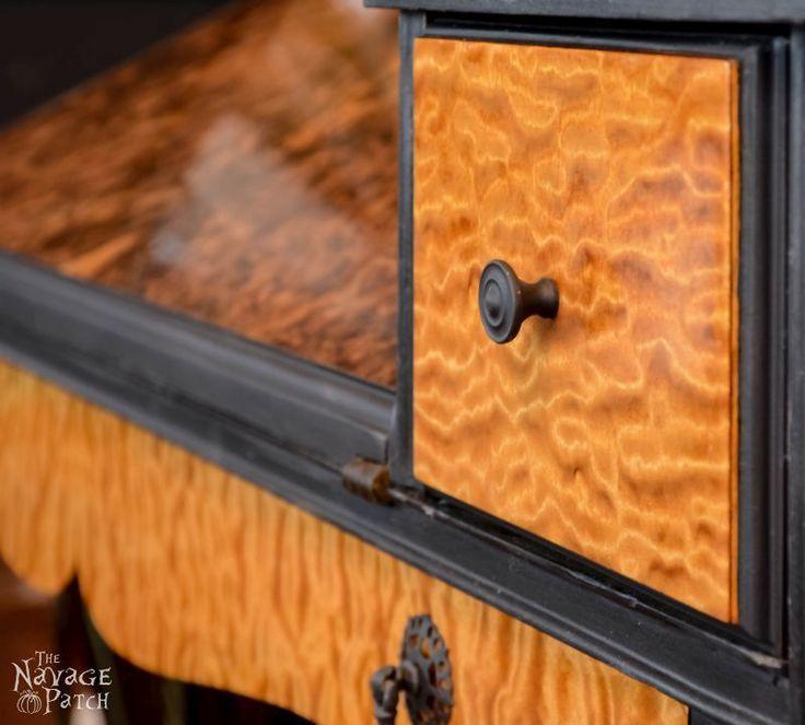 diy furniture makeover full tutorial. Antique Desk Makeover Using Exotic Wood Veneer And Chalk Paint | Diy Tutorial How Furniture Full G