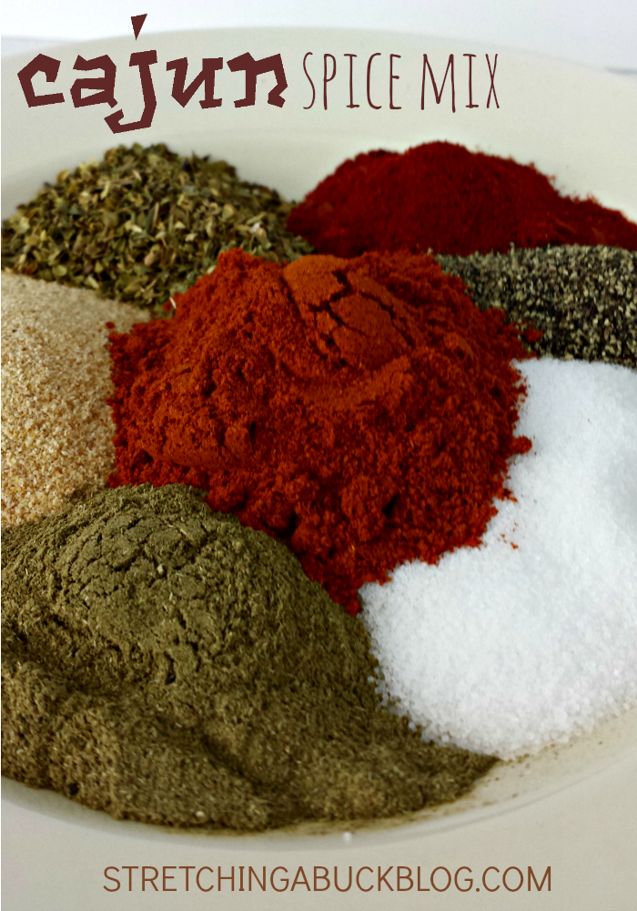 cajun spice mix recipe - inexpensive and easy to make seasoning for your dinner recipes. Great with chicken!