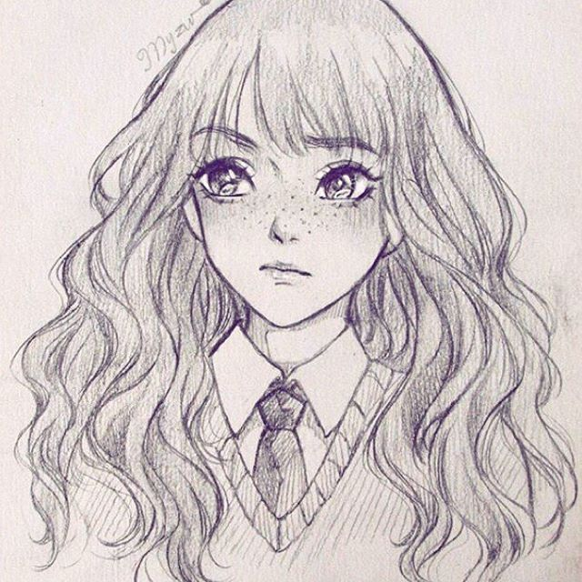 how to draw anime harry potter characters