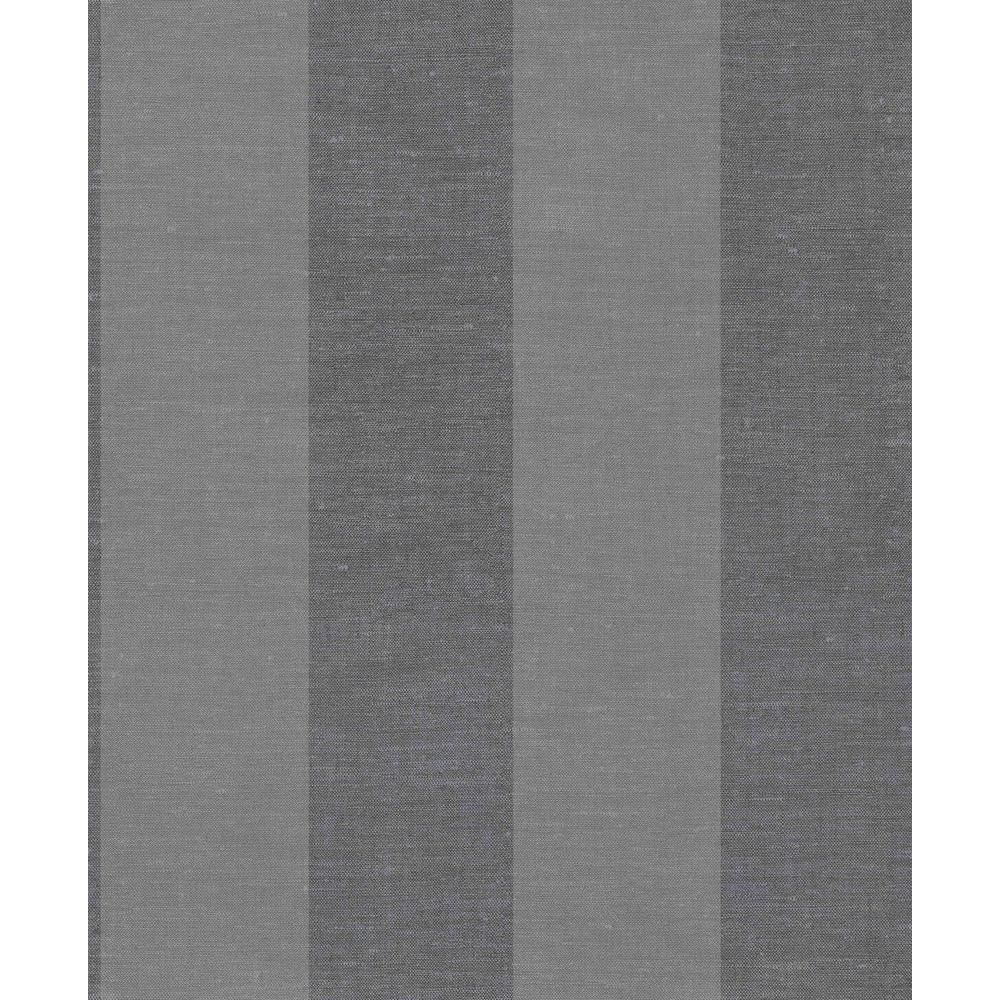 Walls Republic Dark Grey Large Linen Stripes Wallpaper