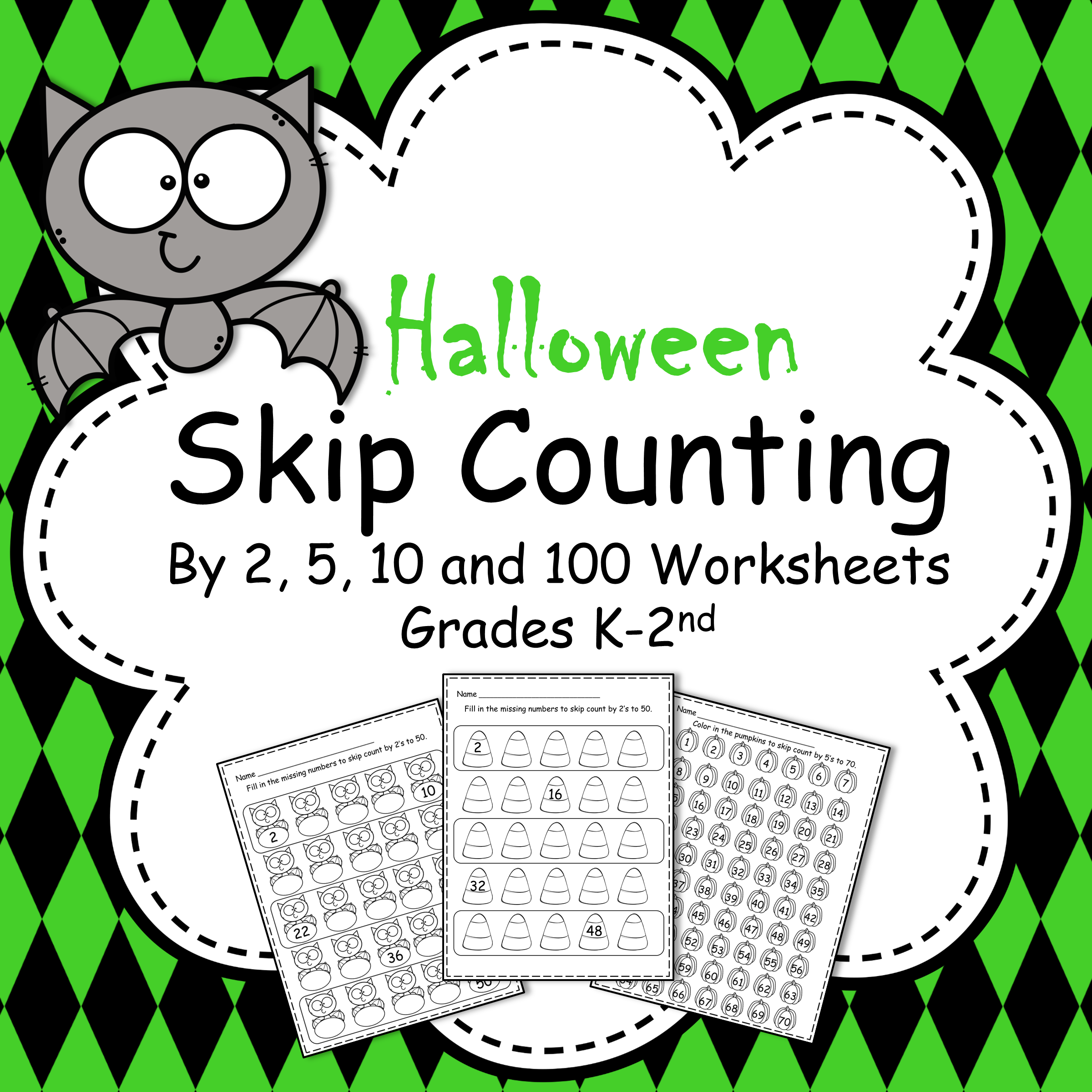 Halloween Skip Counting By 2 5 10 And 100 Worksheets