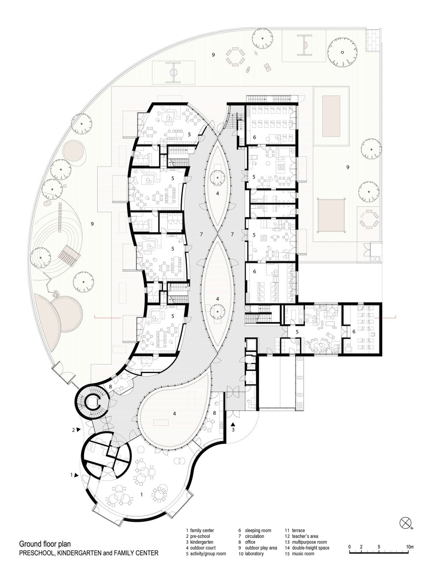 Modus Architects Preschool Kindergarten And Family Center Divisare School Building Design School Floor Plan Office Floor Plan