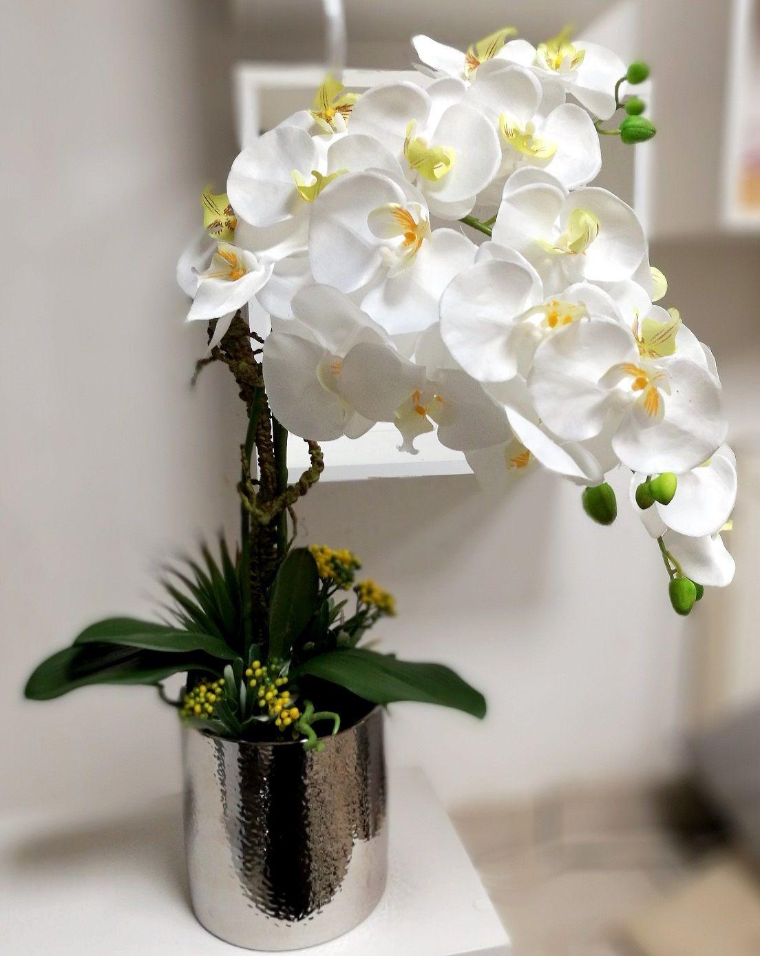 Satynowy Storczyk W Srebrnej Donicy Nr 147 Swiateczne Atelier Decor Home Decor Vase