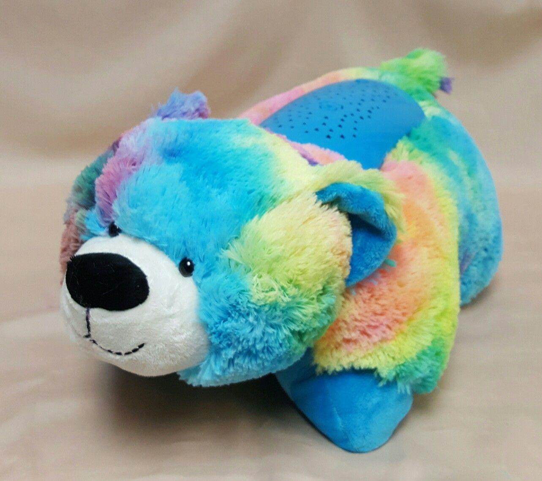 Pillow Pet Dream Lites Rainbow Peace Bear Animal Pillows Dinosaur Stuffed Animal Animals