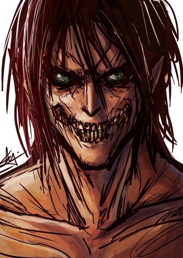 Eren Titan Form Art Attack On Titan Anime Attack On Titan Art Attack On Titan Fanart