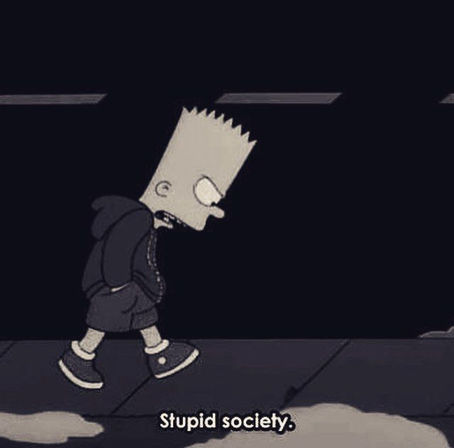 Bart Simpson Wallpaper Sad