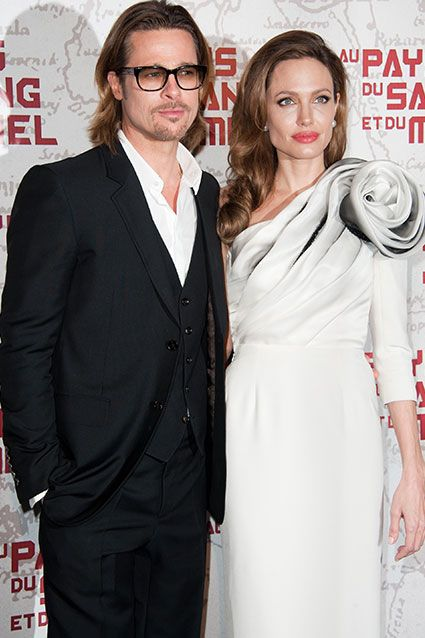 Angelia Jolie & Brad Pitt    Probably the most famous unmarried couple, Pitt and Jolie have been bucking tradition since becoming a couple in 2005. The have six children together, three adopted and three that Angelina gave birth to. After seven years together, Pitt and Jolie announced their engagement in April 2012.