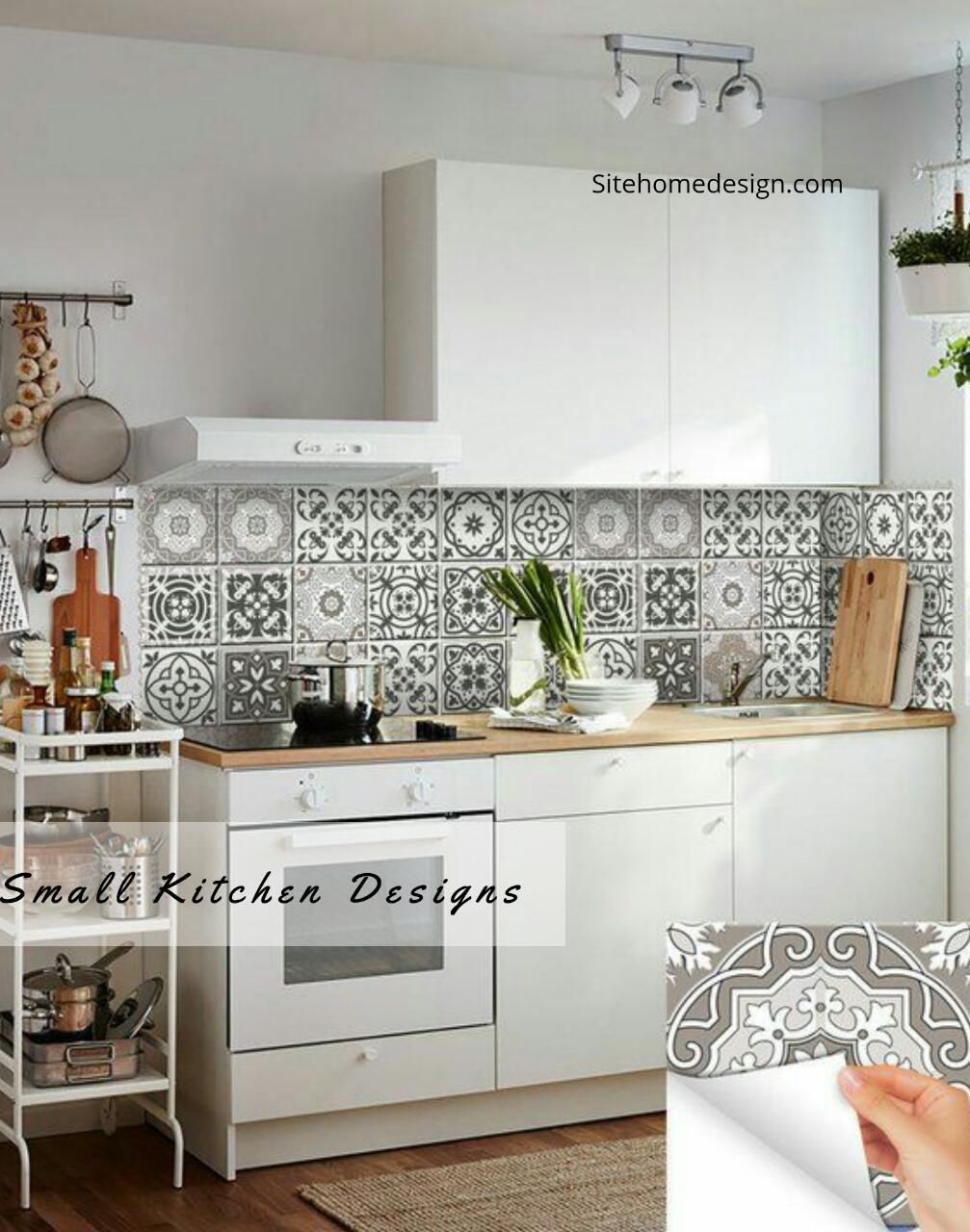 10 Designs Perfect For Your Small Kitchen Kitchen Decals Bathroom Tile Stickers Small Kitchen