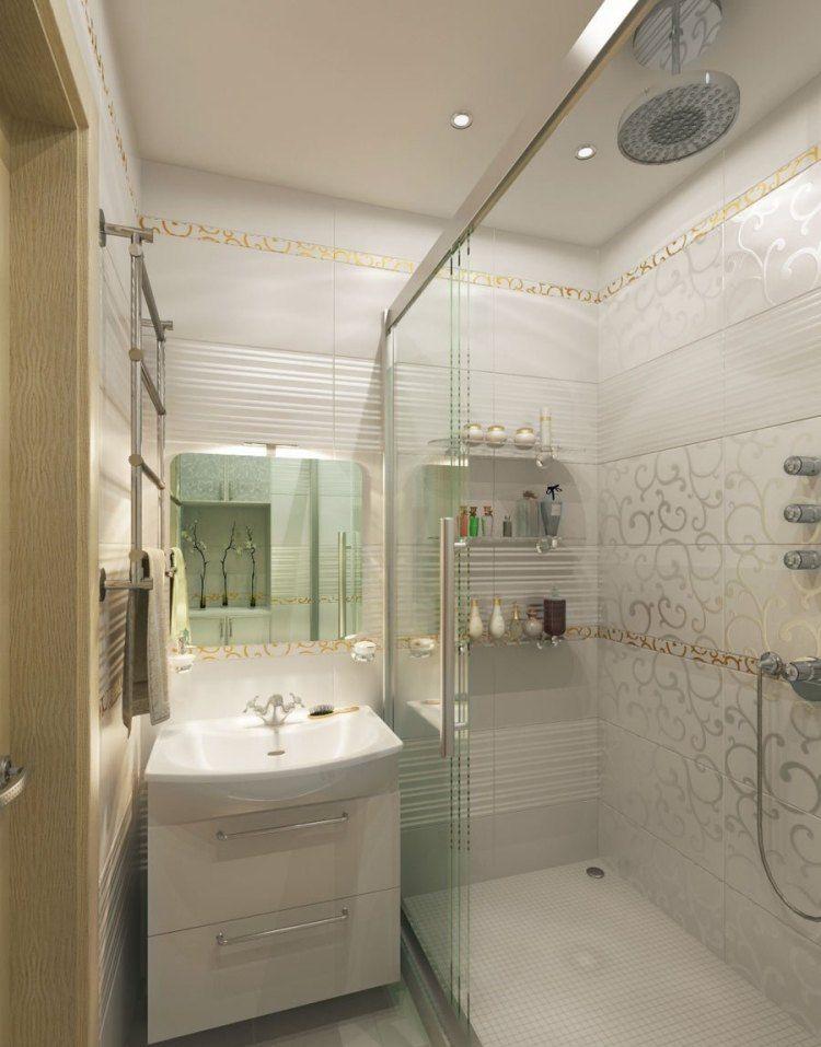 Варианты оформления маленькой ванной комнаты плиткой, 40 ...