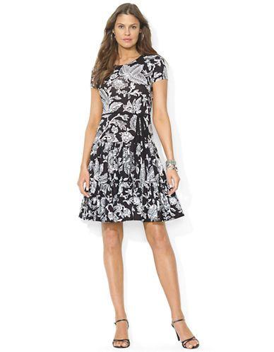 LAUREN RALPH LAUREN Belted Striped Dress – BLACK – http://1tagdeals.com/fashion/shop/lauren-ralph-lauren-belted-striped-dress-black-x-large/