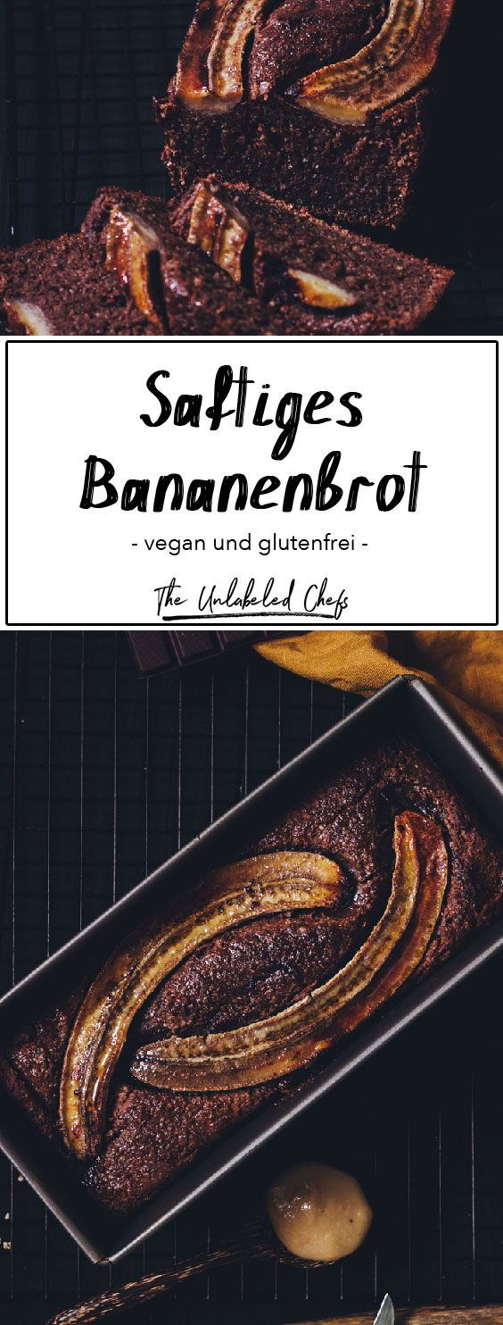 Schoko-Bananenbrot Vegan - The Unlabeled Chefs #bananabread