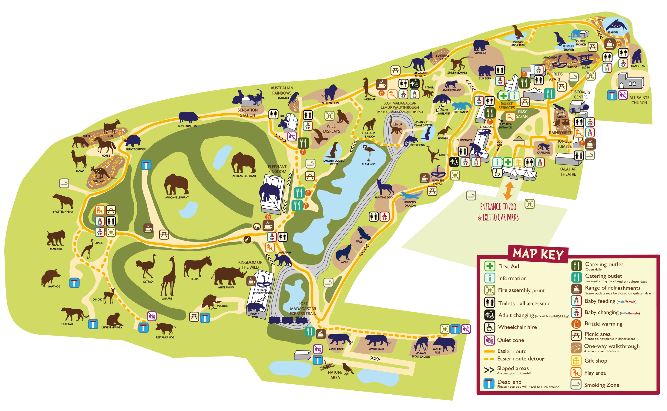 Colchester Zoo Map Zoo Map   Colchester Zoo | Sept Break in 2019 | Colchester zoo