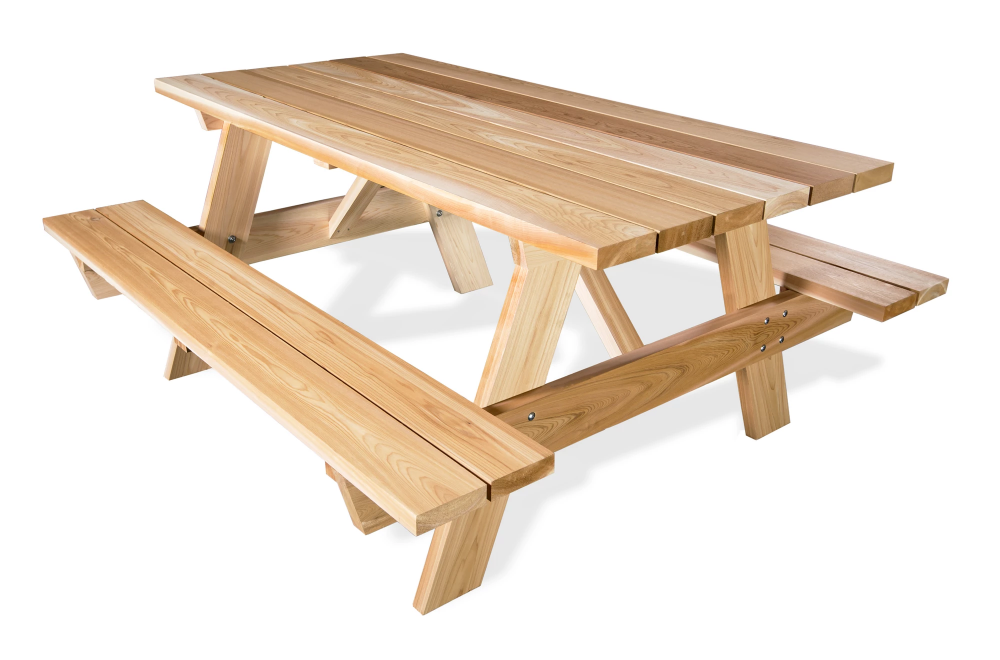 6ft Picnic Table Attached Bench Picnic Table Outdoor Dining Table Outdoor Dining
