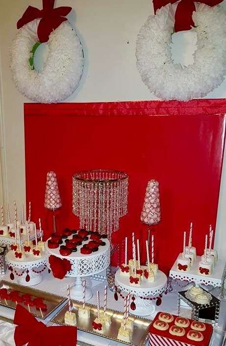 Pretty Red And White Christmas Party See More Party