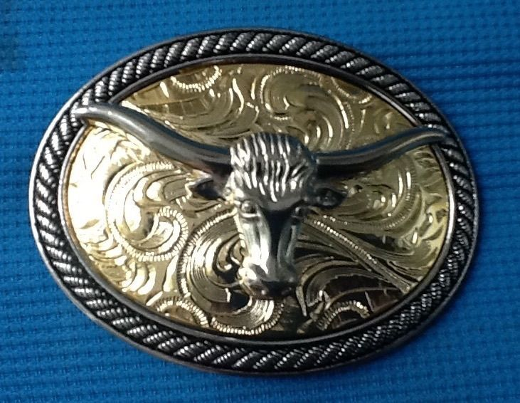 TEXAS STEER BELT BUCKLE NEW