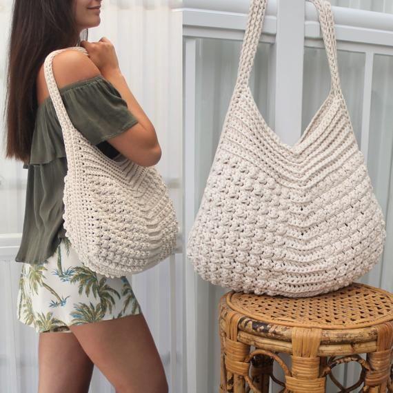 Photo of Crochet bag pattern-MACIE bag-Crochet handbag pattern-Crochet boho bag-Beach bag-Crochet tote-Market bag-Handmade bag-Crochet bag purse PDF