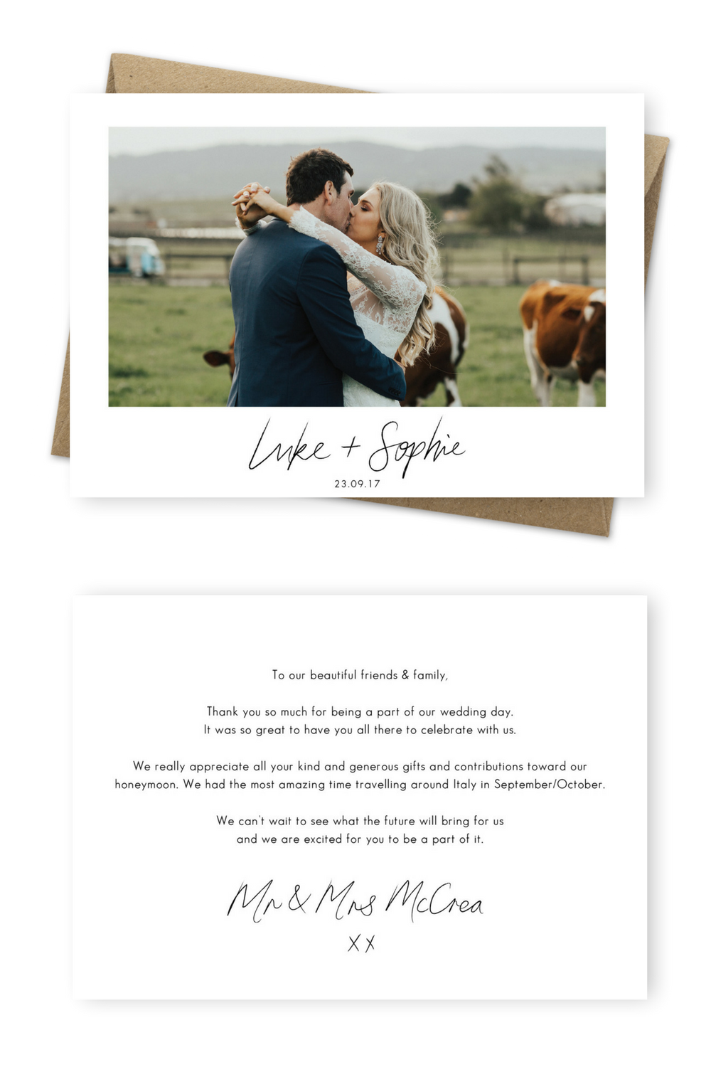 7 Wording Examples For Your Wedding Thank You Cards Wedding Trends