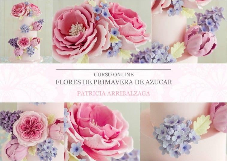 Curso Online de Flores de Primavera de Azúcar - Patricia Arribálzaga www.cakeshautecouture.com