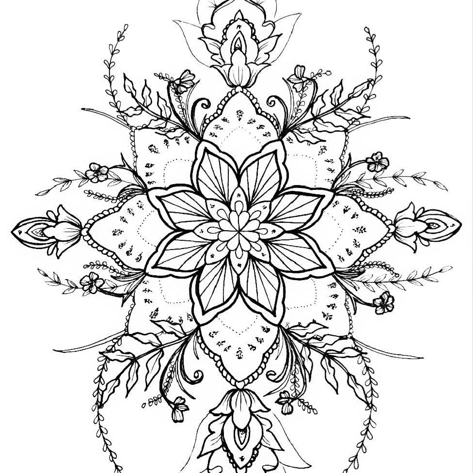 Mandala Tattoo Design Flower Nature Vorlage Tattooart Dotwork Mandalatattoo Purple Aesthetic Mandala Mandala Tattoo