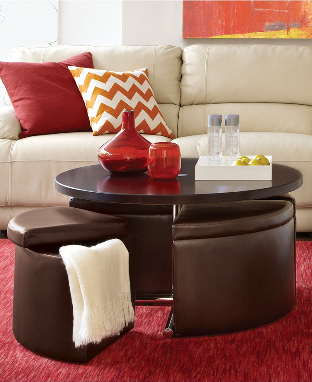 Neptune Coffee Table with Storage Ottomans