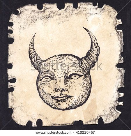 Black Outline Zodiac Symbols Set Astrology Alchemy Signs Taurus