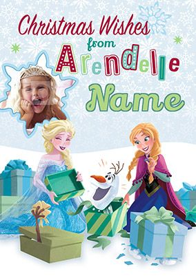 Frozen Christmas in Arendelle Photo Card | Personalised Christmas ...