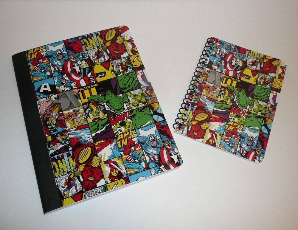 MARVEL COMIC/'S CHARACTER BOOK DESIGN GRID BIFOLD WALLET