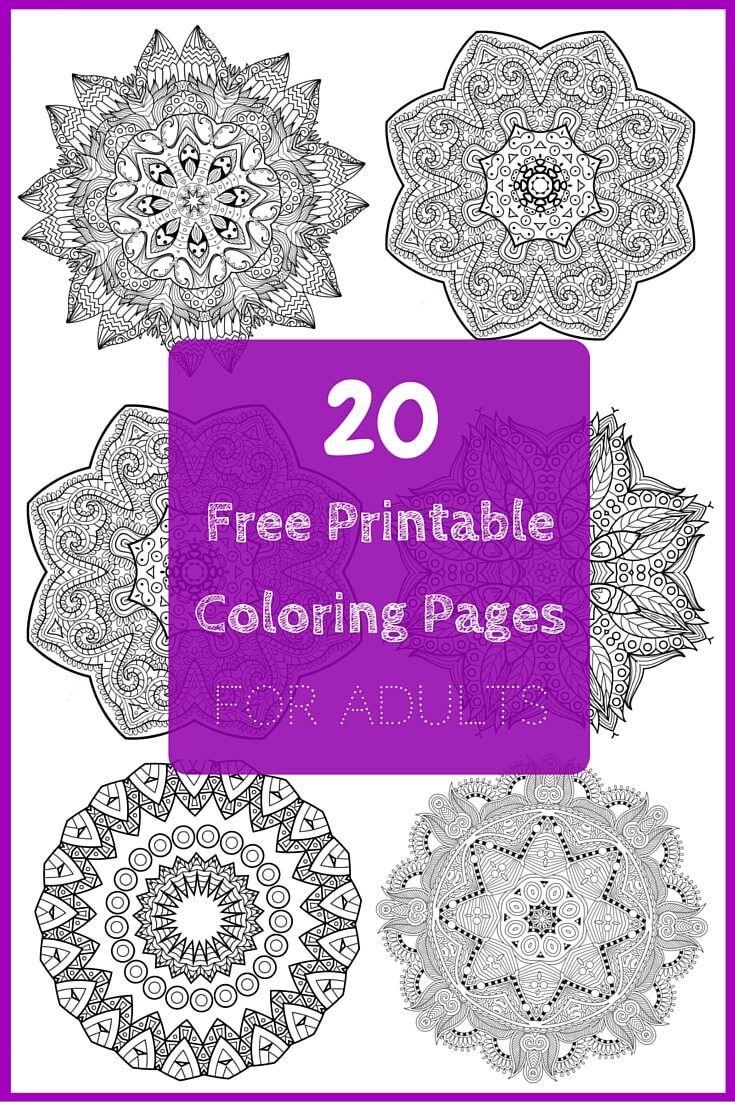 5 Free Printable Coloring Pages: Mandala Templates ...
