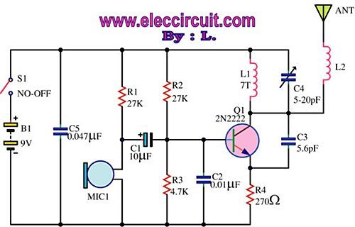 FM wireless transmitter circuit | Electronics | Electronics