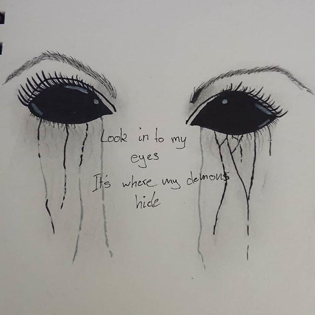 Photo of Augen Dorfkind auf Instagram: Der Dämon in uns   # Drawing auf Augen Dämon der…