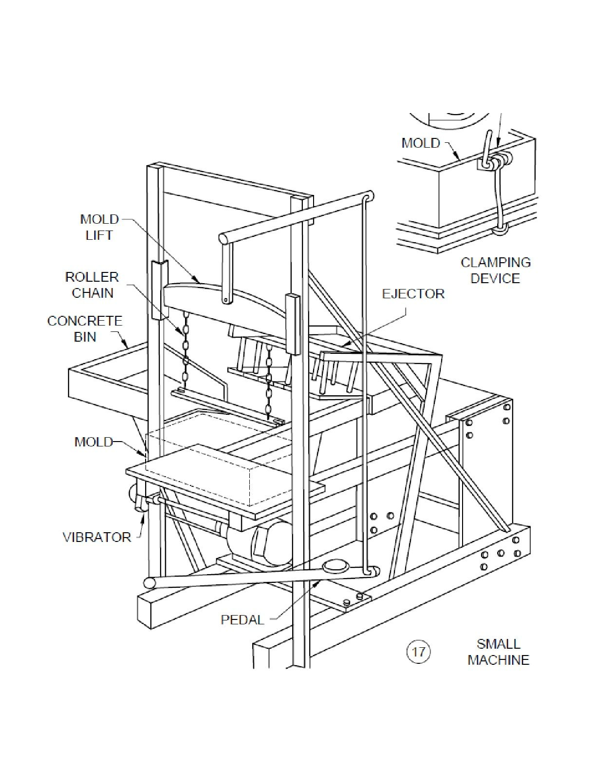 concrete block making machine plans diy cinder brick maker 100 blocks an hour [ 1224 x 1584 Pixel ]