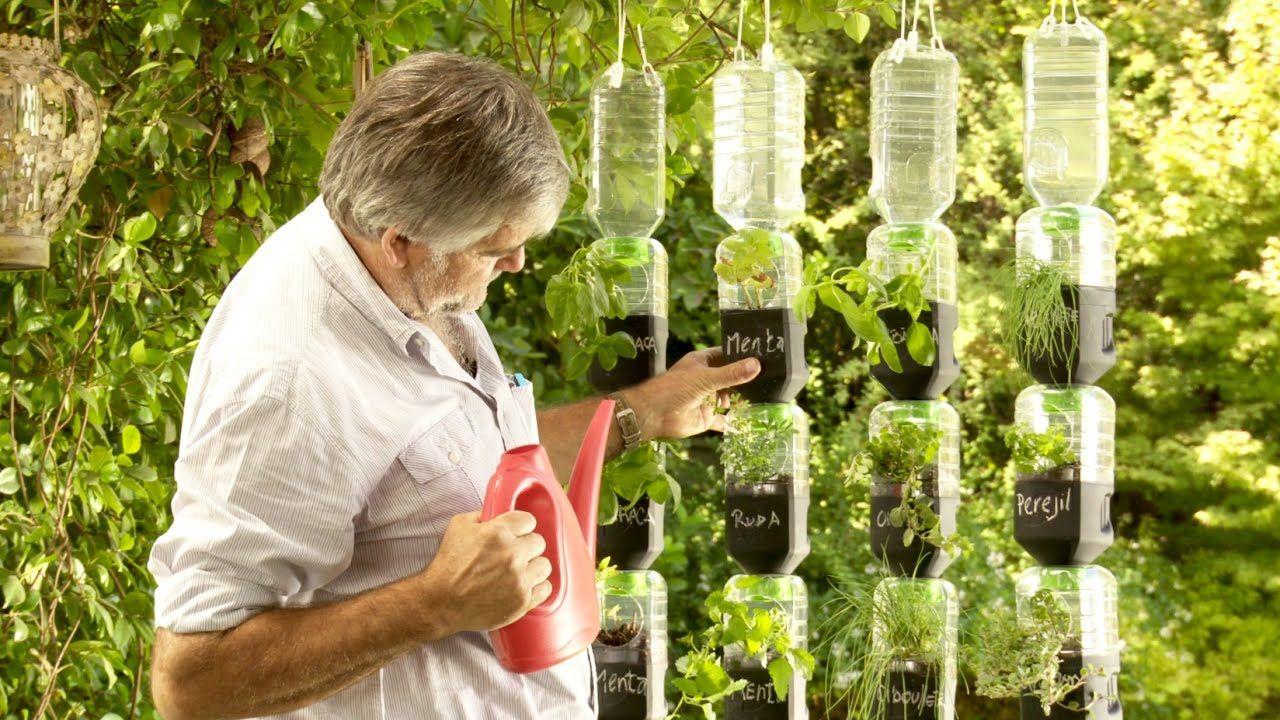 C mo hacer una huerta de riego por goteo con botellas for Hacer un huerto en el jardin