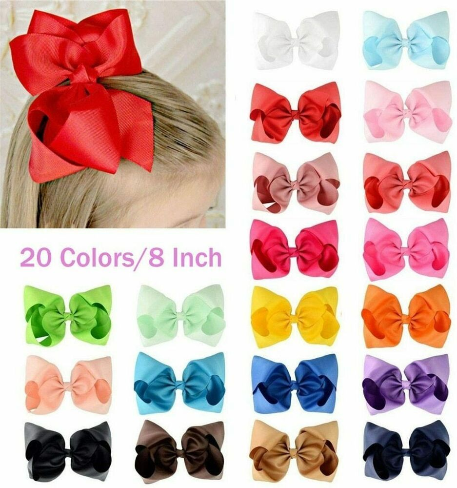 Girls Hair Bow Clips Various Colours Accessories Fashion Pretty Party