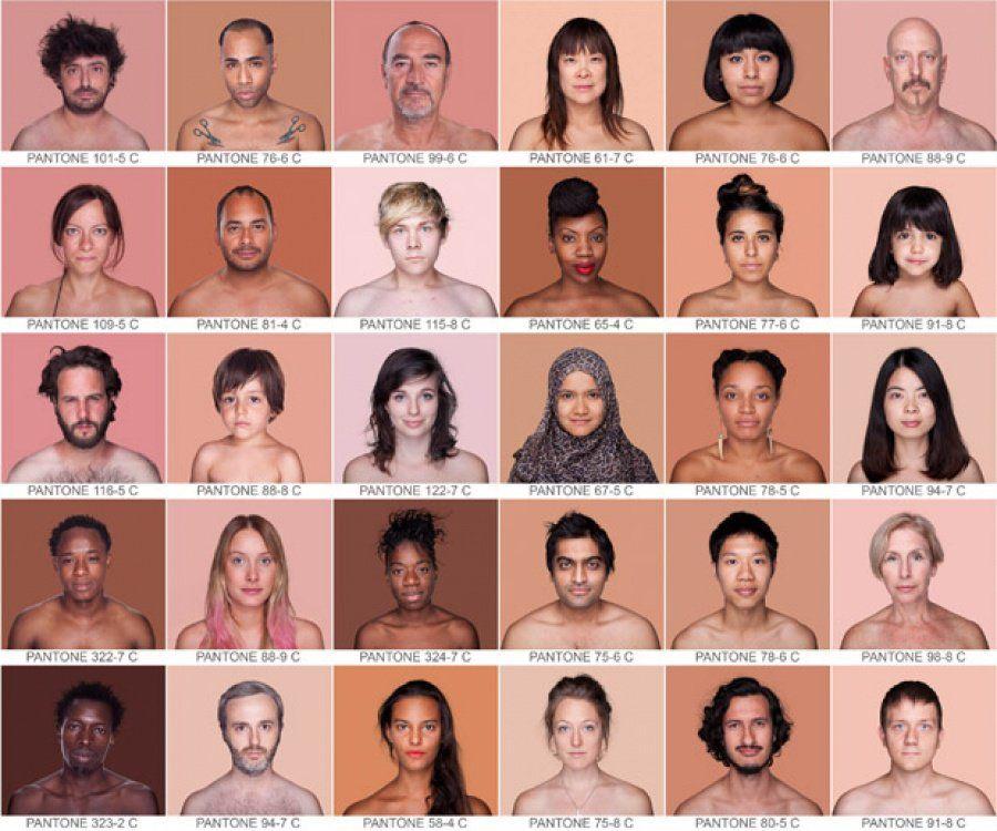 'Humanae': Retratos que clasifican las diferentes etnias con su color Pantone