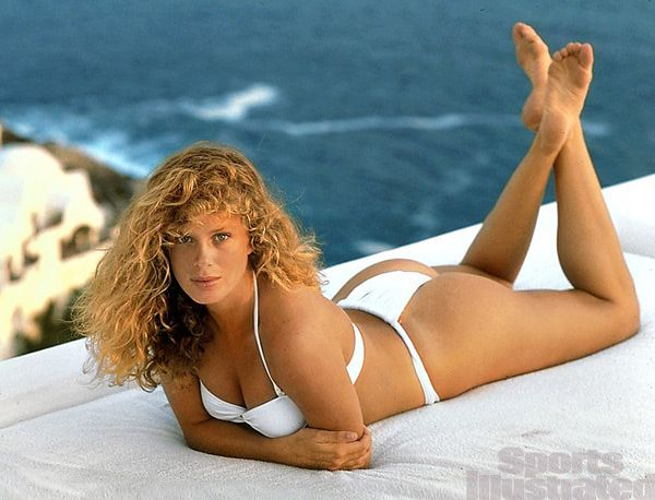 Model Rachel Hunter is photographed for the 1990 Sports