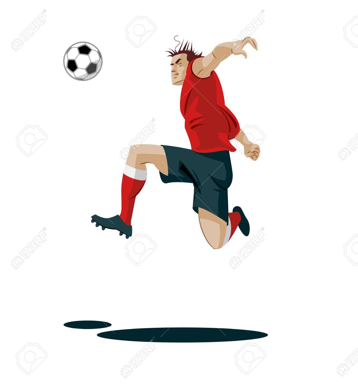 Soccer Player Kicking Ball Vector Illustration Ad Kicking Player Soccer Illustration Vector Disney Characters Disney Princess Character